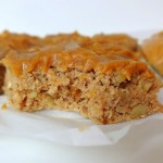 Cinnamon Banana Walnut Bars with Peanut Butter Frosting