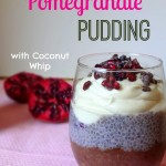Chia Chocolate Pomegranate Pudding