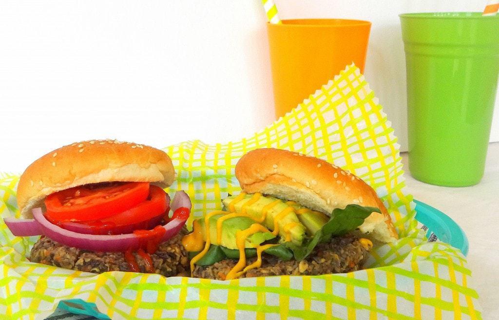 Mushroom Veggie Burger - Vegan - theglowingfridge.com