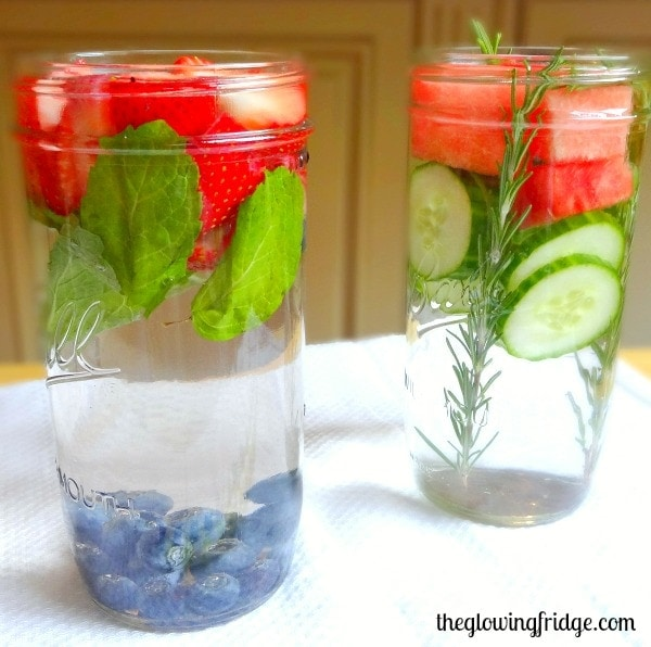 Detox Fruit Water - Refreshing, Hydrating and Supports the Detox Process - from The Glowing Fridge
