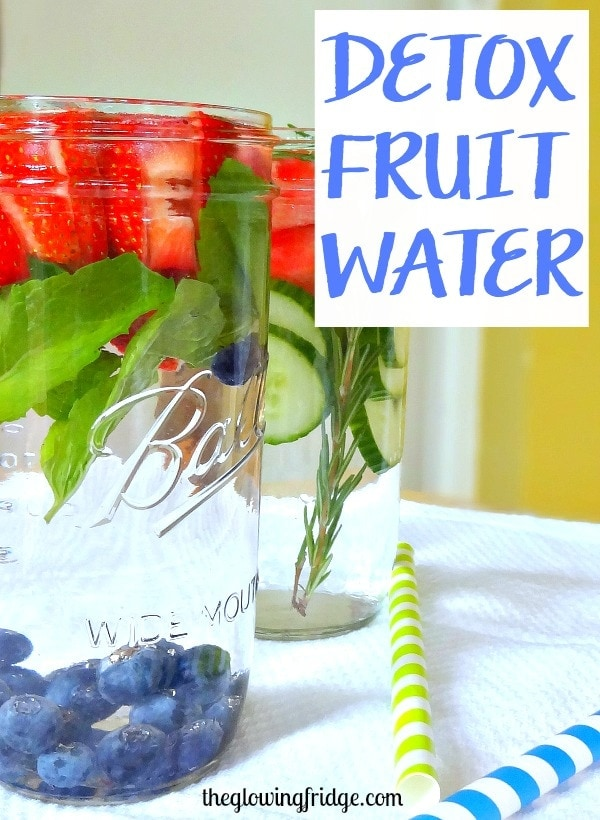 Detox Fruit Water and What I Ate Wednesday