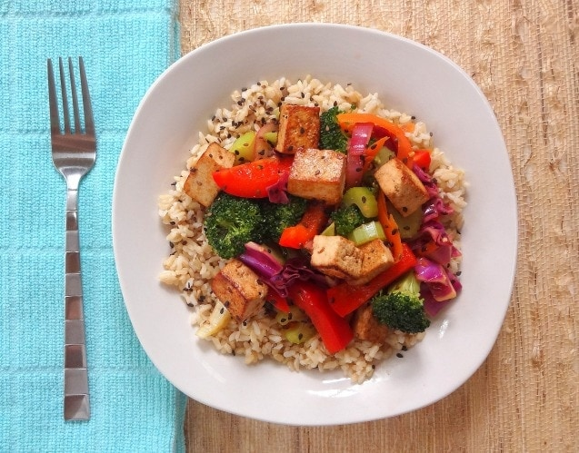 Sesame Veggie Stir Fry - with Tofu! - Clean and Flavorful - from The Glowing Fridge
