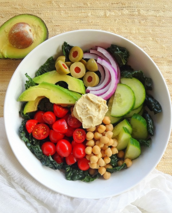 The Everyday Goodness Bowl - a big bowl of good-for-you-ingredients - from The Glowing Fridge