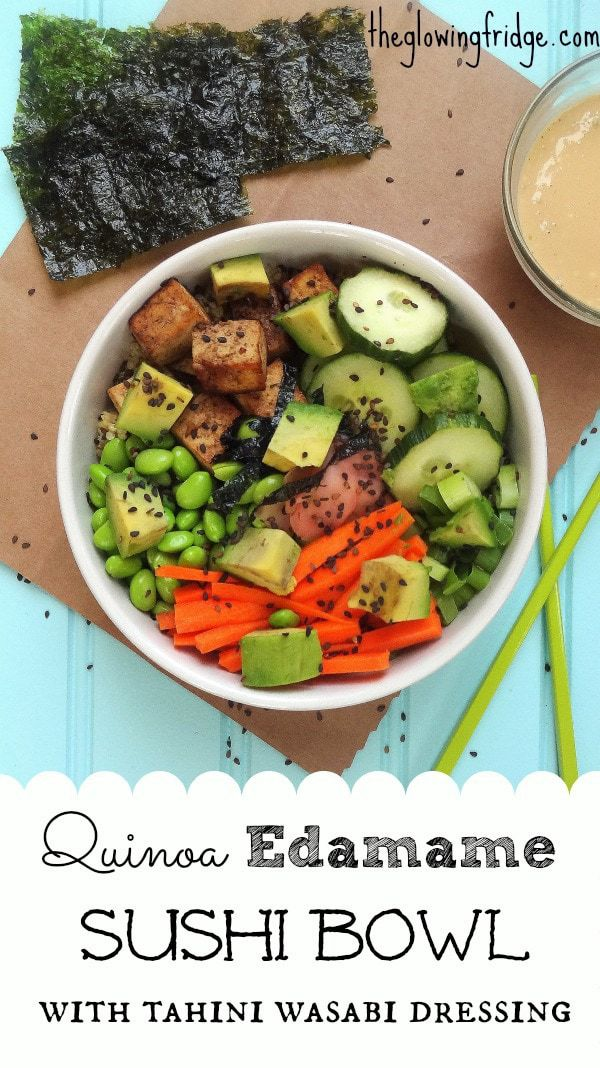 Quinoa Edamame Sushi Bowl
