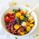 Kale Glow Bowl with Pumpkin Dressing