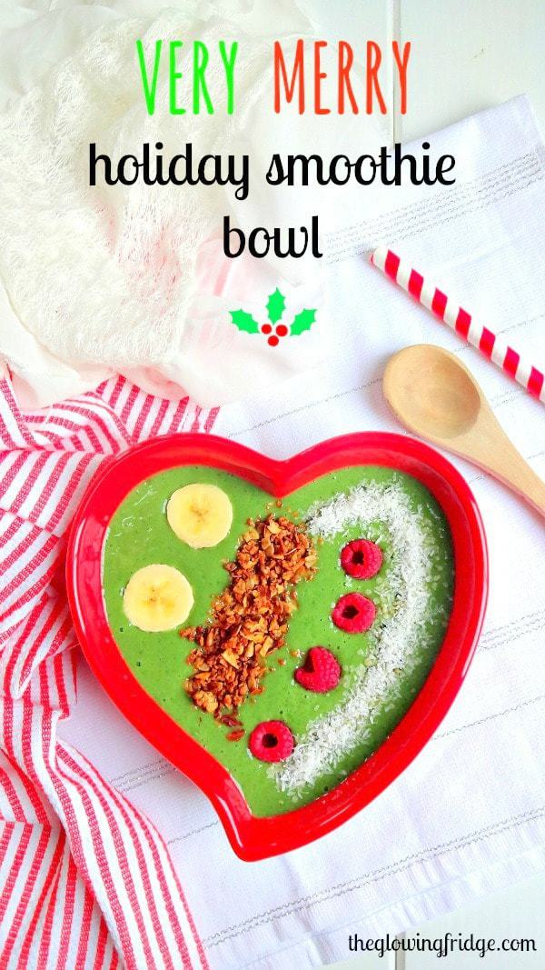 A Very Merry Holiday Smoothie Bowl - super nourishing, delicious, plant based vegan smoothie that will leave you feeling energized, focused and amazing!