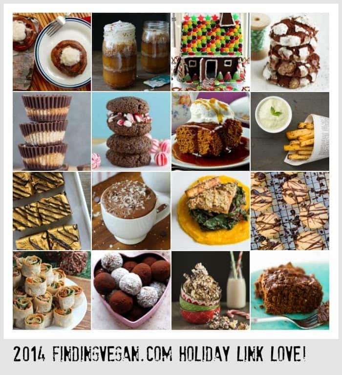 50+ Holiday Vegan Recipe and Link Roundup, from Finding Vegan Bloggers