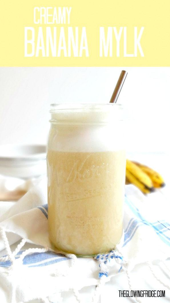 Banana Mylk - a healthy + sweet alternative or substitute for almond milk, coconut milk or any kind of milk. Pour over cereal, sip after a workout or freeze into popsicles!