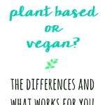 Plant Based or Vegan?