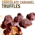 Vegan Chocolate Caramel Truffles