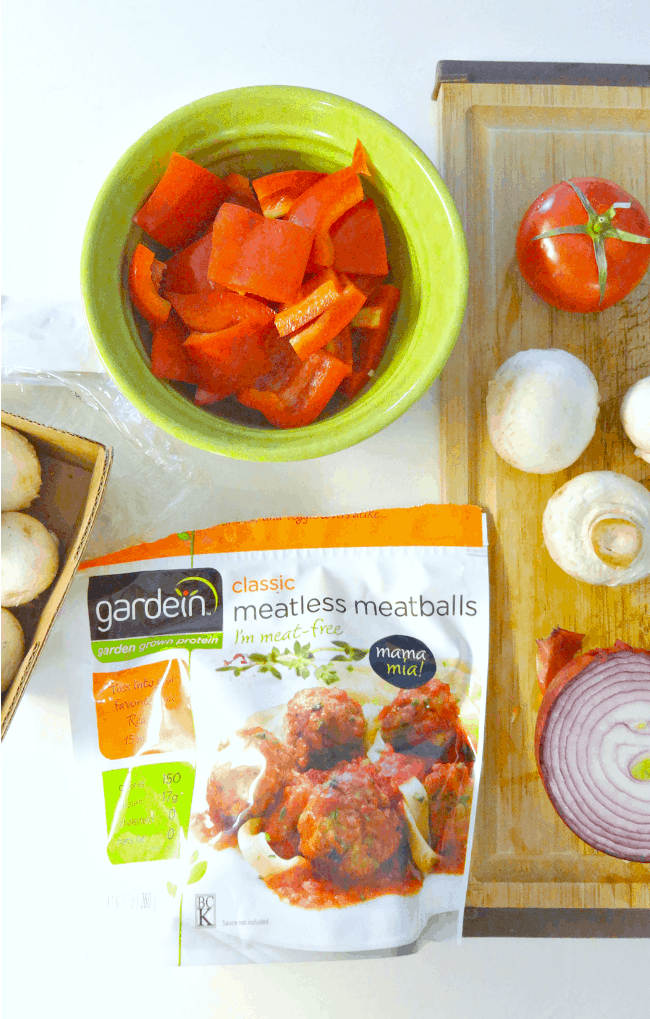 Meatless Meatball Skewers - a quick, convenient and delicious plant based vegan recipe that's healthy and perfect for grilling season! From The Glowing Fridge #meatless #monday