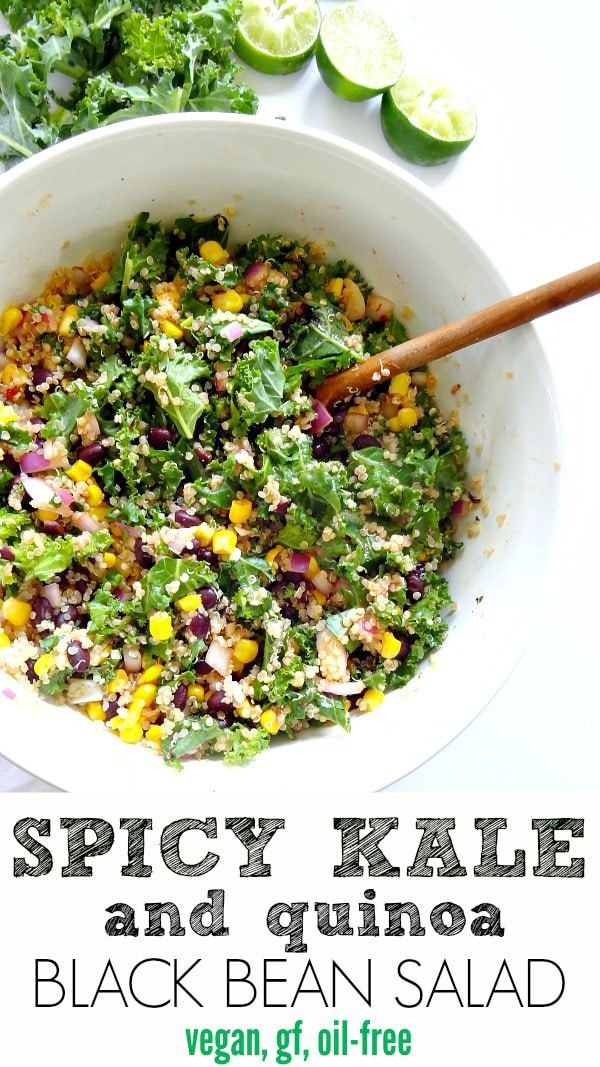 Spicy Kale and Quinoa Black Bean SaladThe Glowing Fridge