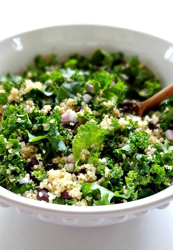 Spicy Kale and Quinoa Black Bean SaladThe Glowing Fridge