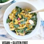 Vegan Kale Caesar Pasta Salad