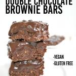 No Bake Double Chocolate Brownie Bars