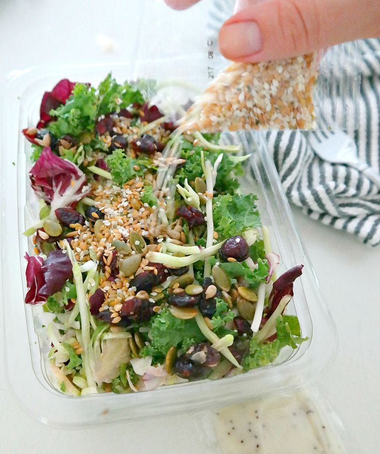 Sweet Kale Salad and Vegan Poppyseed Dressing