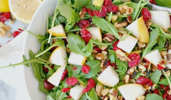 Arugula, Pear and Walnut Salad