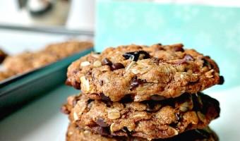 Vegan Cherry Chocolate Muesli Cookies