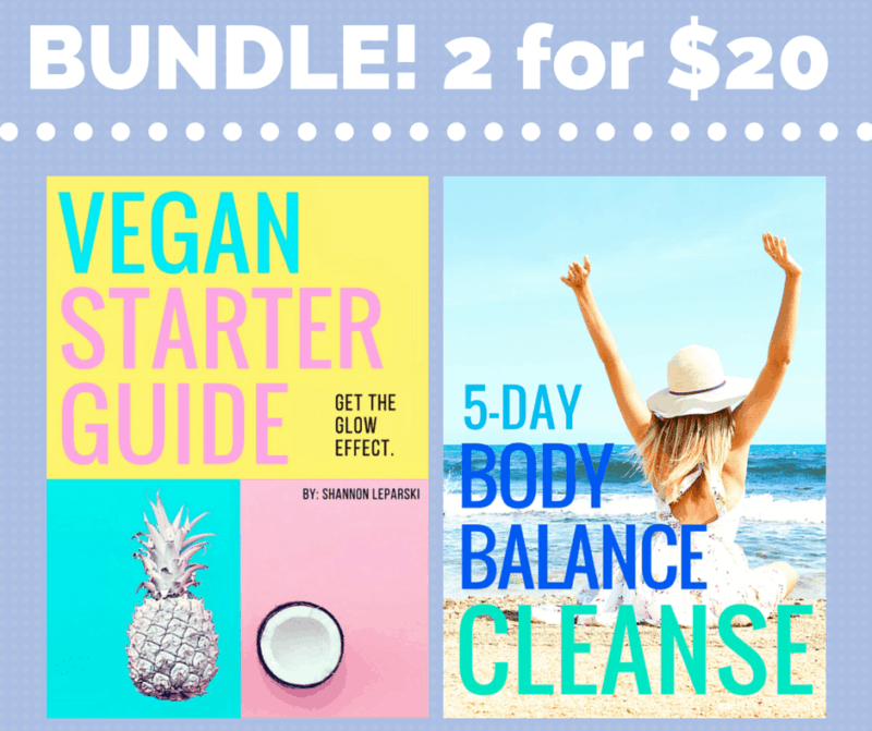 Vegan Starter Guide and 5 Day Cleanse BUNDLE! 2 for $20 - From The Glowing Fridge
