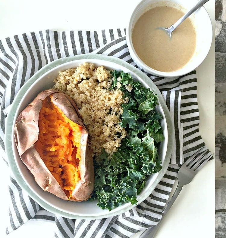 Kale, Sweet Potato & Quinoa Glow Bowl - What I Ate Wednesday - VEGAN, Plant Based & Healthy! From The Glowing Fridge