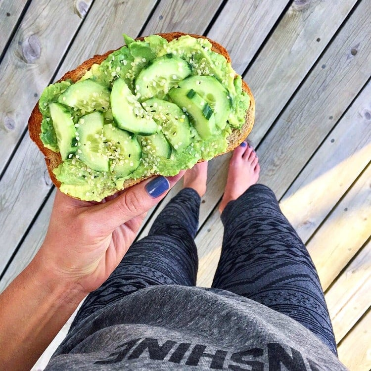 Avocado Toast with Cucumber and Hemp Seeds - VEGAN - The Glowing Fridge