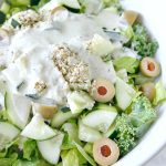 Zesty Kale Cucumber Caesar Salad