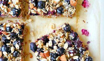 Blueberry Oatmeal Breakfast Bars