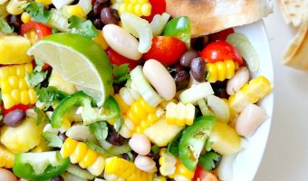 Summer Corn, Pineapple and Black Bean Salsa