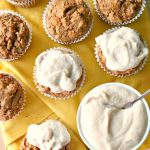 Carrot Cake Muffins with Maple Orange Frosting