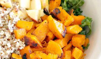 Harvest Kale and Quinoa Butternut Squash Salad