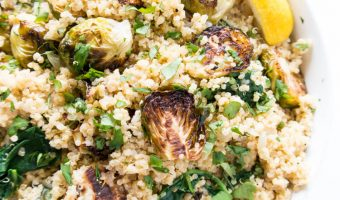 Lemony Quinoa Brussels Sprouts Salad
