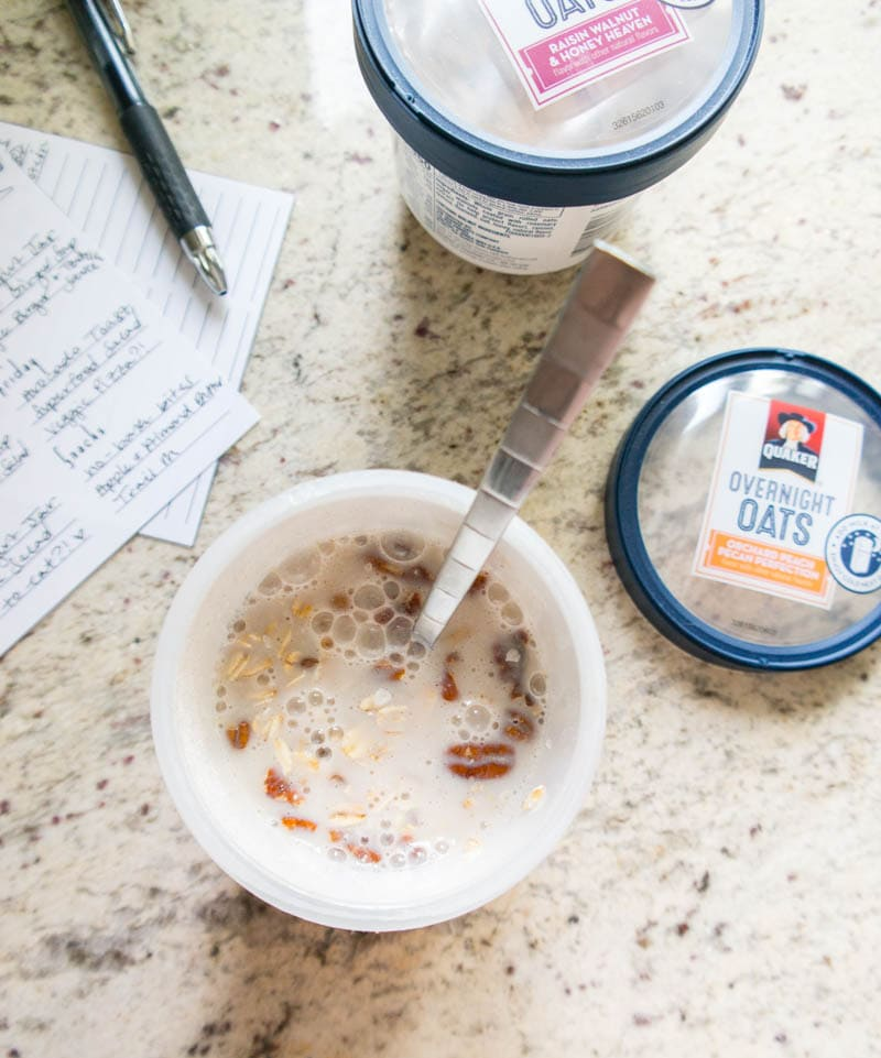 Grocery Shopping & Meal Planning Routine. I love to meal prep the new @Quaker Overnight Oats the night before a super busy morning! #QuakerOvernightOats #ad #vegan #mealprep