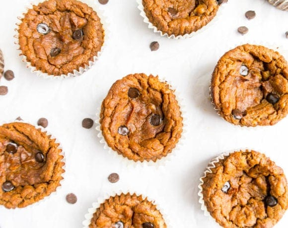 Flourless Pumpkin Protein Muffins