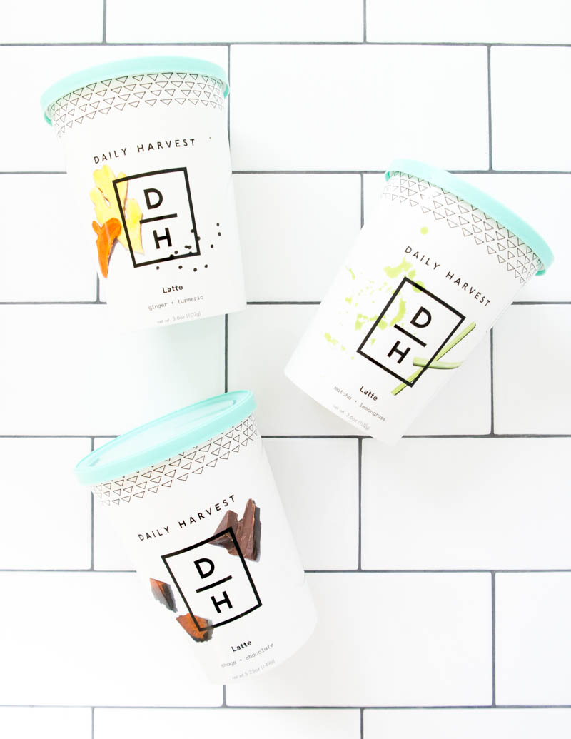 Daily Harvest Lattes. Adaptogenic, Functional Botanical, Ready-Made, Dairy-Free, Delicious Lattes! #adaptogen #latte #vegan