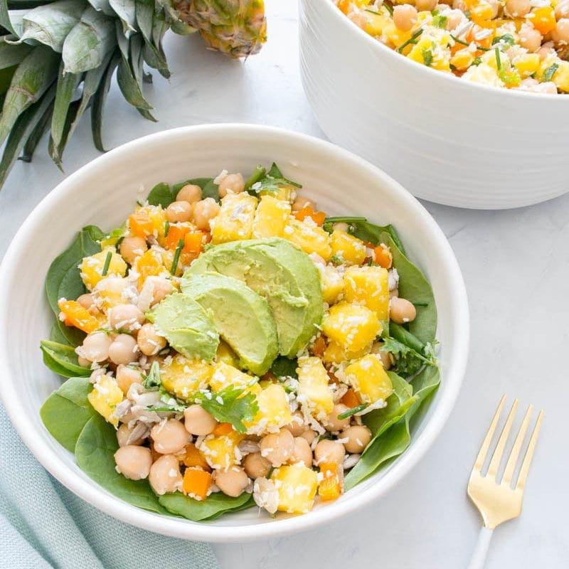 Chickpea Pineapple Summer Salad