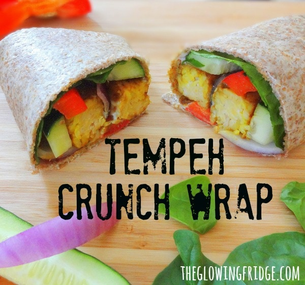 Tempeh Crunch Wrap - Vegan, Healthy and Delicious - from The Glowing Fridge