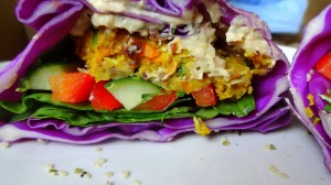 Low Fat, High Carb Vegan Falafel Recipe - from theglowingfridge.com