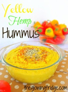 Yellow Hemp Hummus, Creamy and Delicious, and Vegan too! theglowingfridge.com
