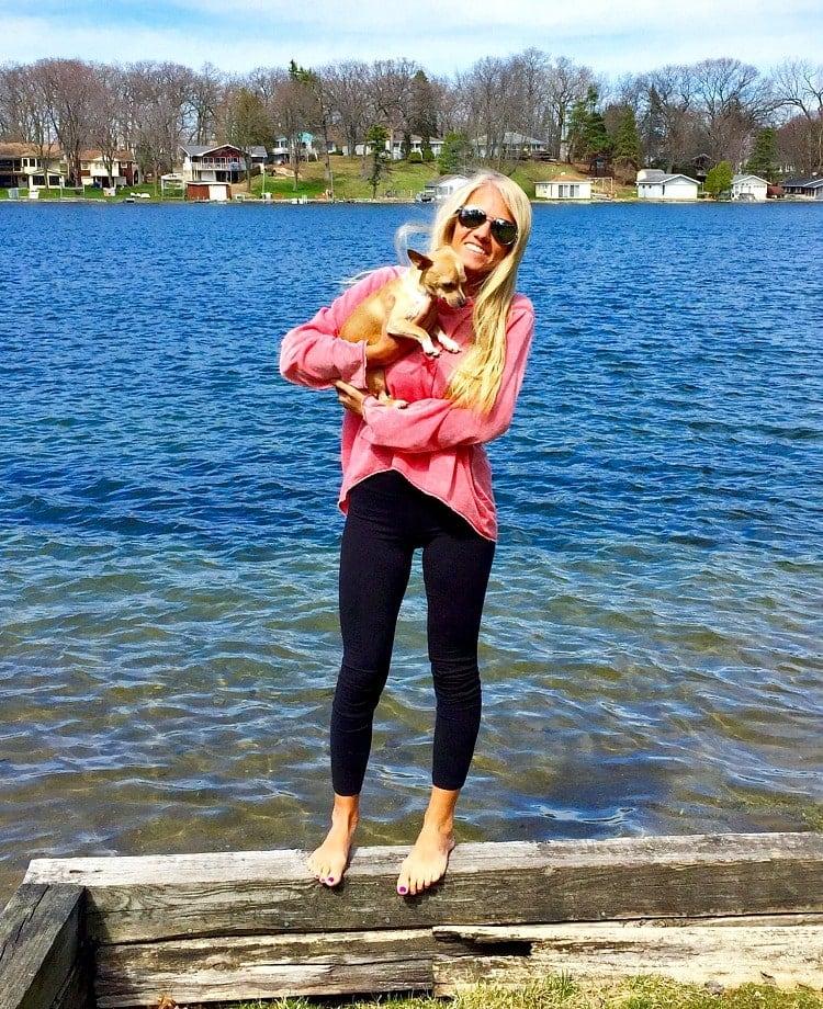 Me and Taz at Lake