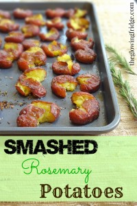 Smashed Rosemary Potatoes - Roasted, Crispy and Delightful - from TheGlowingFridge