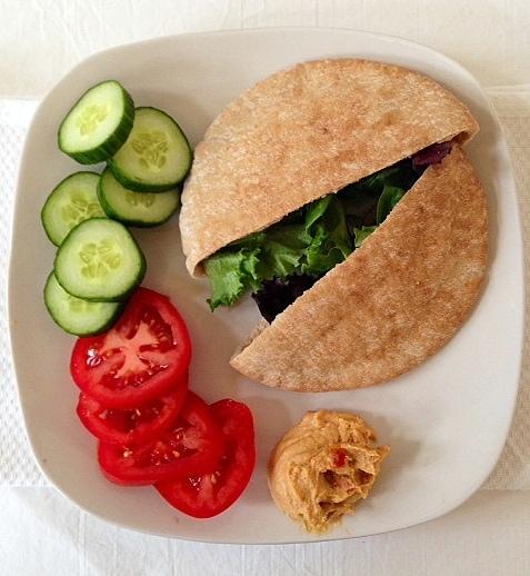 Pita Pocket Salad with Veggies