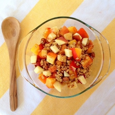 Apple Peach Granola Bowl - What I Ate Wednesday - from The Glowing Fridge