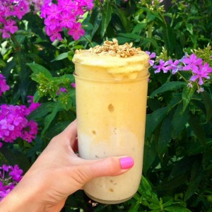 Mango Banana Swirl Smoothie - from The Glowing Fridge