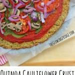 Quinoa Cauliflower Crust Veggie Pizza