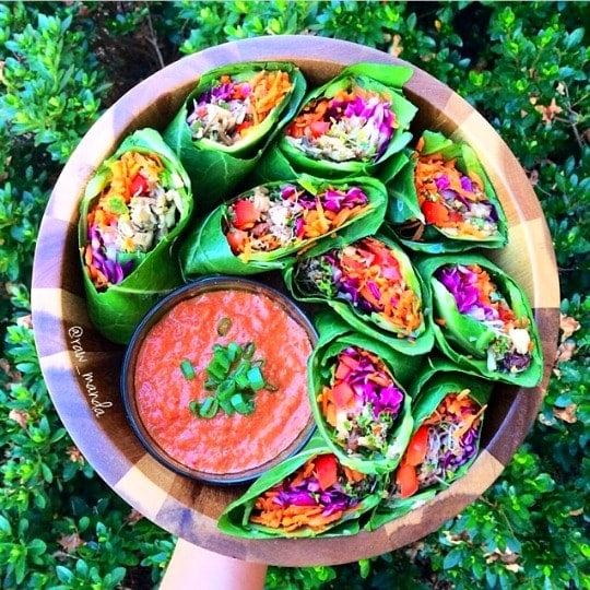 Raw Mushroom Burritos from RawManda + a fun interview featuring Amanda and all things raw vegan plant-based!