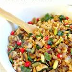 Mushroom and Kale Farro Salad