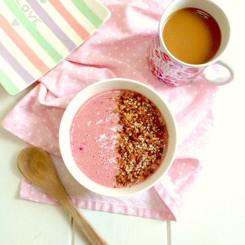 Pink Smoothie Bowl - What I Ate: Weekday