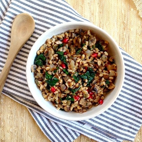 Mushroom and Farro Salad - What I Ate: Weekday