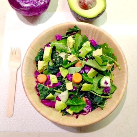 Crunchy Rainbow Salad - What I Ate: Weekday