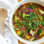 One Pot Veggie and Soba Noodle Soup
